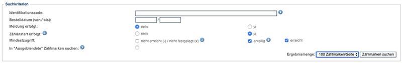 VG Wort Zählmarken Suche