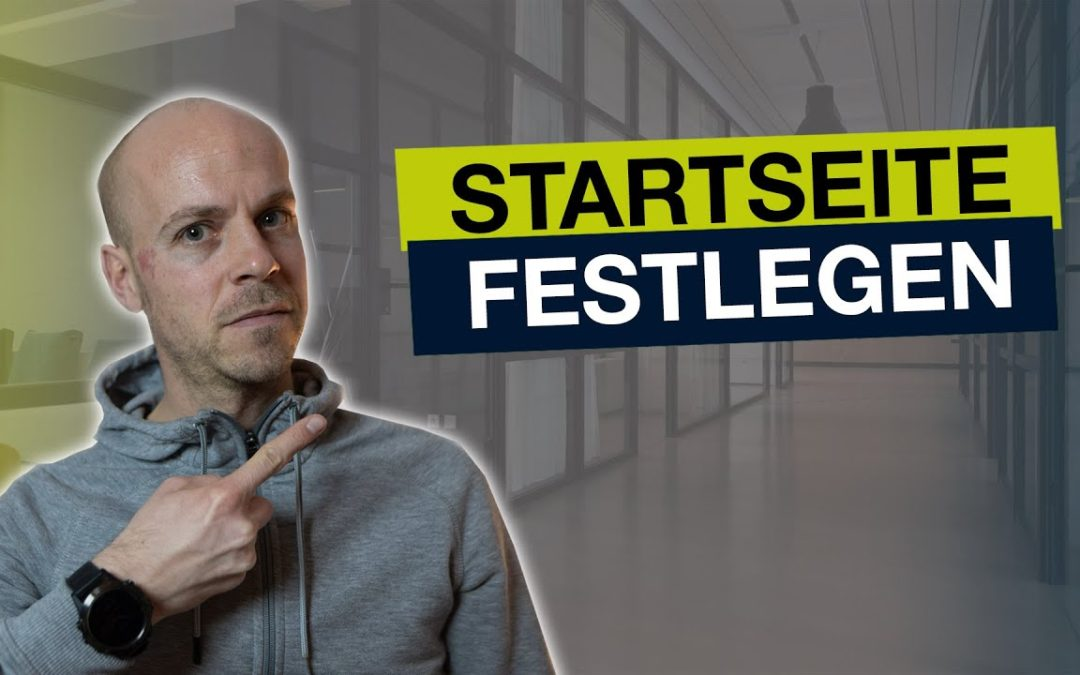 WordPress Startseite festlegen